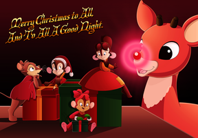 Rudolph x Bluth: A Very Shiny Christmas by WhiteLionWarrior