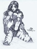 Witchblade Pencils by Dingodile24