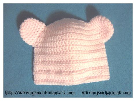 Pink Bear Beanie by WireMySoul