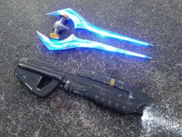 Combat Evolved MA5C with Energy Sword by JohnsonArms