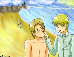 APH: On the beach by Laknea