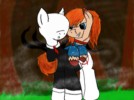 Slendermane and Chucky :3 by CKittyKat98