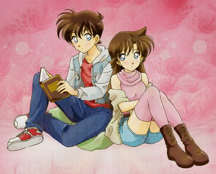 Shinichi and Ran by chikorita85