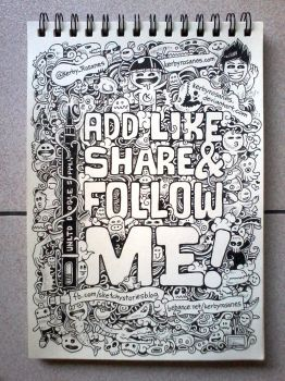 Add, Like, Share and Follow Me!!! by kerbyrosanes