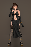 DOA 5 - Lei Fang [Black Dress] by IshikaHiruma