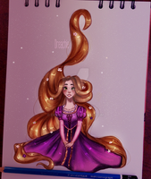 Rapunzel (+SPEEDPAINT) by Dreachie