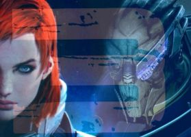 ME3 Shepard and Garrus by Razz8
