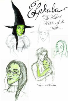 Elphaba sketches by MarineElphie