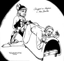 Satanik tickles Alan Ford by solletickle