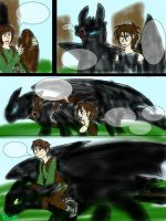 HTTYD: The One-Eyed Night Fury comic test page by BlackDragon-Studios
