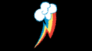 MLP: Rainbow Dash Cutie Mark Background by SweetCandace