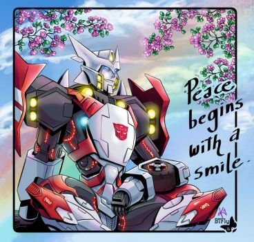 Peace Begins With A Smile by TheButterfly