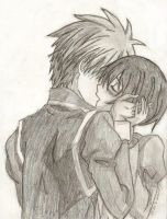 Misaki and Usui by Licerao
