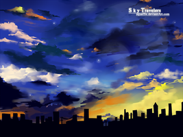 Sky Travelers by Squaffle