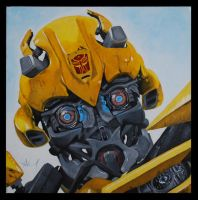 Bumblebee Portrait by aboral