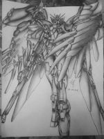 Wing Zero Custom Drawing by anali218