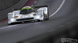 Mercedes lmr1 down the straight by KarayaOne