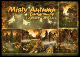 Misty Autumn background by KlaraKay