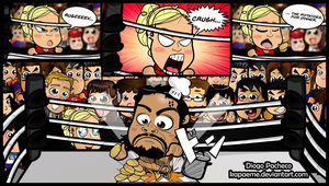 Lana and Rusev - WWE Chibi Comic #02 by kapaeme