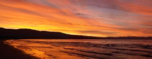 Sunset Pohara Beach Panorama by Deceptico