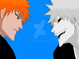 Ichigo vs. Hollow Ichigo New by TOPCAT91