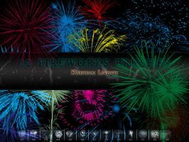 Fireworks brushes by 1995levente