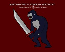 Shape of: a Gorilla. Form of: a Sword by somezombie1
