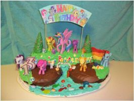 MLP: FIM Birthday Cake by Cutie-Mark-Crusader