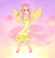 Human Fluttershy by suppersona