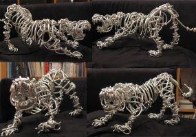 Wire Tiger by m-yun