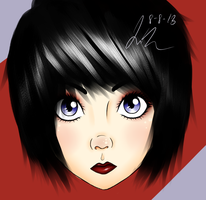 Black haired girl. by cuteybear25