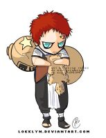 Gaara chibi by Lokklyn