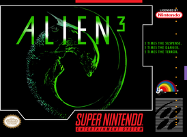 Alien 3 - SNES front UGC cover by vladictivo