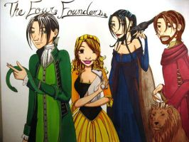 The Four Founders by AbsyntheDreams