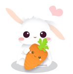 I love you,carrot!- backgroundless by misosazai-are