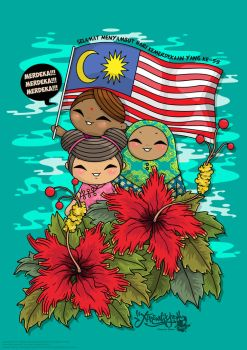 Happy Celebrate Malaysia Independence Day! by ExtremelyShane