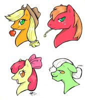 Apple Family by TwinCandles