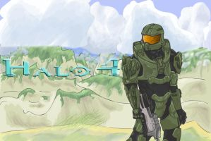 Halo 4 fan art by FanNamed