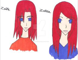 Zansa and Zaine by Stella-Shuriken