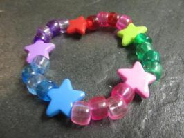 Multicolor Star Kandi Bracelet by Yaki-Kodauze