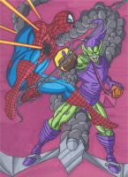 Spider-Man vs The Green Goblin by RobertMacQuarrie1