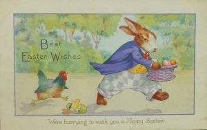 We're Hurrying to Wish You a Happy Easter by Yesterdays-Paper