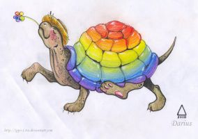 Rainbow turtle by IPPO-Lita