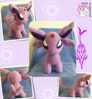 Chibi Standing Espeon Plush Commission by Ami-Plushies