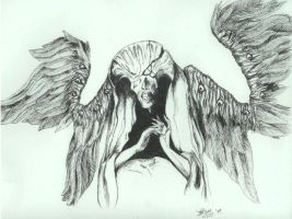 Angel of Death inked by InKibus
