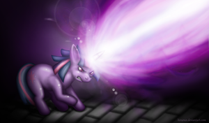 Friendship, Magic, and LASERS (Old Version) by hirurux