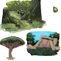 Speed painting concepts by Ironmary
