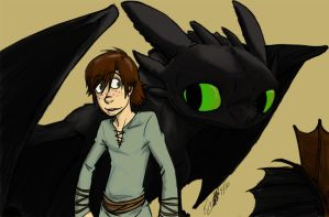 :HTTYD: A boy and his dragon by RegentShaw