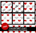 Heart Patterns Free Download by PsdDude