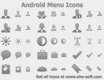 Android Menu Icons by Ikonod